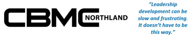 CBMC Northland logo with quote